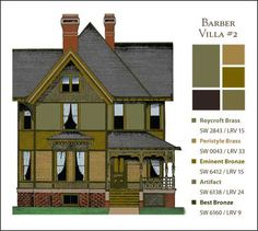 Victorian Farmhouse Colors   Living Life in Colors: Paint Colors for Historic Homes, by John Crosby ...