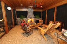 screened-in-wooden-porch-ideas-with-fireplaces