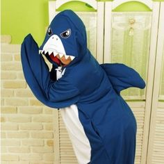 $34.90  Cute Shark Kigurumi Adult Pajamas Halloween Unisex Cosplay Costume
