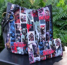 Walking Dead Fabric Purse CHARLA Over the by CanaryCreated on Etsy