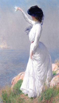 ▴ Artistic Accessories ▴ clothes, jewelry, hats in art - Joseph Rodefer DeCamp | Farewell