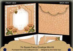 BOrange Pansy Beaded Fancy 7x7inch Easy Envelope Mini Kit on Craftsuprint - Add To Basket!