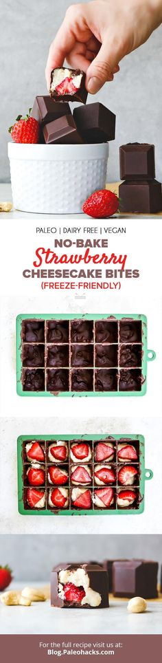 No-Bake Strawberry Cheesecake Bites (Freeze-Friendly)