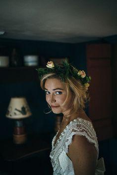 Farm wedding bridal style