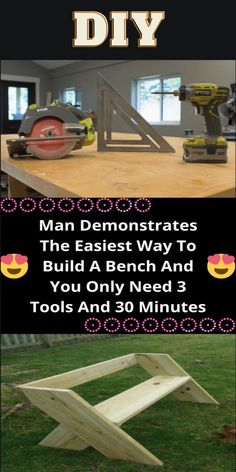 Diy Wooden Projects, Woodworking Projects That Sell, Wooden Diy, Diy Woodworking, Large Backyard Landscaping, Sell Diy, Wood Working For Beginners, Diy Hacks, Diy Bench