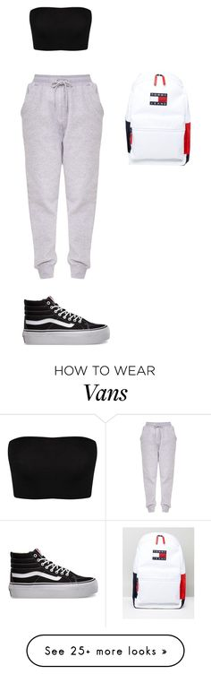 """Chill Däi"" by lolitsbrit on Polyvore featuring Vans and Tommy Hilfiger"