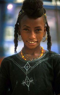 Africa | Wodaabe girl. Agadez, Niger  | ©deepchi1 on flickr