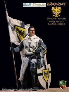 Teutonic Knight: Noble Knight Banner Holder 1:6