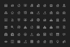 Ad: 180 Real Estate Icons by FlatLineIcons on 180 Real Estate - Landmark - Construction - Tools - Thin Line Icons Designed using grid system, available in 6 file types (AI, EPS, PSD, Building Icon, Building Layout, Real Estate Icons, Real Estate Business, Line Design, Icon Design, Web Design, Find Icons
