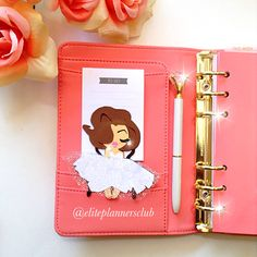 Pretty and feminine Marilyn Monroe inspired planner paperclip. This large planner paperclip with give your planner pockets instant glam! Eliteplannersclub.com
