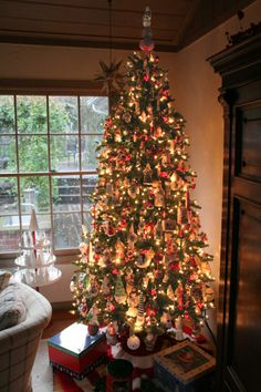 patricia breen christmas tree | Another view. This tree takes a while to decorate as I really try to ...