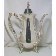 Bule de Café em Prata Inglesa -