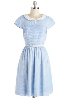 Confectioner's Dream Dress in Sky. As you embark on a tour of your favorite candy factory, youre feeling lovely as can be in this powder-blue dress from Bea  Dot - a ModCloth exclusive! #blue #modcloth