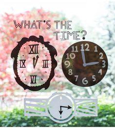 Window Cling Clocks