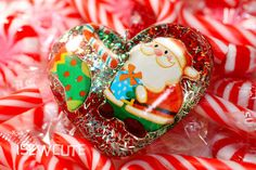 Christmas Jewelry holiday necklace  Santa pendant by isewcute, $20.00