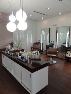 Salon Design with Equipment: Douglas J Salons by Leslie McGwire, via Behance