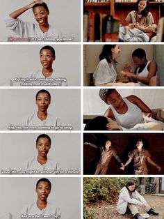 Poussey and Soso :'( Soso And Poussey, Best Tv Shows, Favorite Tv Shows, Samira Wiley, Alex And Piper, Netflix, Watch Tv Shows, Couple Relationship, Orange Is The New Black