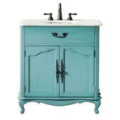 The Provence Single Sink Vanity is crafted of poplar wood and maple veneer in your choice of finish with carved detailing. The sink top is marble, and the cabinet includes one inside shelf and scrolled metal pulls on the doors.