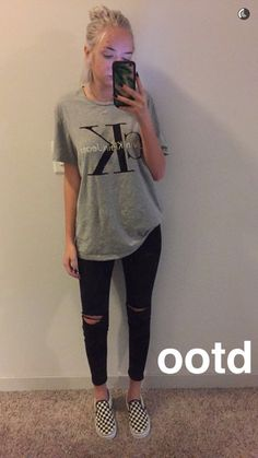 Not the shoes but everything else, mint clothes idea for paris x outfits, c Lazy Day Outfits, Everyday Outfits, School Outfits, Casual Outfits, Summer Outfits, Cute Outfits, Summer Wear, Checkered Vans Outfit, White Vans Outfit