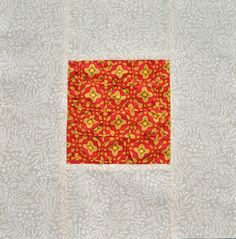 Gathering Diamonds Quilt Block   Love to hand sew? Give this block a try!