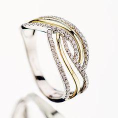 Inel unicat din aur cu diamante P910