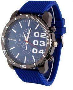 Big Dial Silicone Band Quartz Wrist Watch - AtPerrys.com - 1