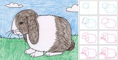Art Projects for Kids: How to Draw a Floppy Ear Bunny