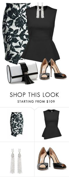 """Work wear/Black & White"" by ganing ❤ liked on Polyvore featuring Conquista, Alexander Wang, Oscar de la Renta, Casadei, Dailylook, moods, BusinessTrip and polyvoreatitsbest"