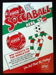 RUSSELL SOCCABALL Campaign Poster, UK 1990 Coca-Cola YoYo Yo-Yo Soccer WORLD CUP | eBay
