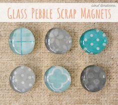 Glass Pebble Scrap Magnets