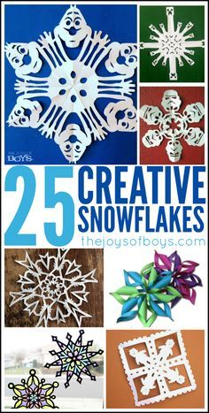 WOW!  SO many fun Snowflake ideas in one place. I can't wait to try these with my kids. #christmas #winter #Snowflake