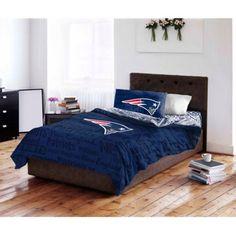 NFL New England Patriots Bed in a Bag Complete Bedding Set, Multicolor