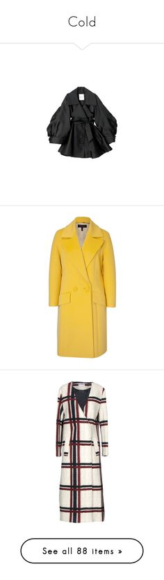 """Cold"" by estrellica ❤ liked on Polyvore featuring outerwear, coats, jackets, dresses, coats & jackets, escada, escada coat, yellow coat, oversized coat and fur-lined coats"