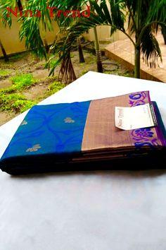 Light weight `silk Saree. Kanchipura Silk Saree. Soft Silk Saree, Silk saree, Bridal Saree, Hindi Bridal Saree.  www.ninatrend.com