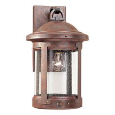 Sea Gull Lighting Hss Co-Op 18.5-in H Weathered Copper Outdoor Wall Light