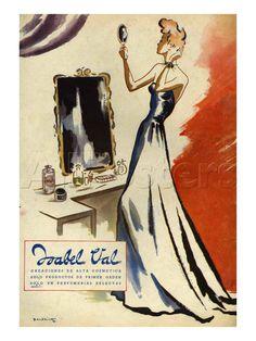 Isabel Val, Magazine Advertisement, Spain, 1942 Foto bij AllPosters.nl