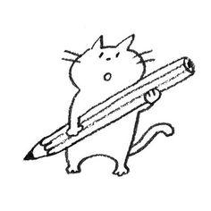 Illustration Art, Illustrations, Sketch Notes, Coloured Pencils, Cartoon Design, Moomin, Emoticon, Doodle Art, Cat Art