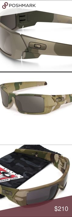 Oakley Multicam GasCan Polarized Tungsten iridium This is a discontinued Oakley military si stand issue special forces GasCan sunglasses in Multicam Camouflage with the rare tungsten Polarized Iridium lenses. Also available at a lower price with the Standard warm grey lens. 100% money back guarantee  authentic! Oakley Accessories Glasses