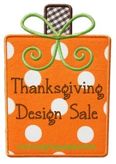11/18/15 Thanksgiving Design Sale ~ Includes all Halloween also!