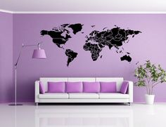 World map outlines wall decal continents decal large world world map outlines wall decal continents decal large world map vinyl world map wall sticker skuwomaouwi wall decals worldmap and walls gumiabroncs Gallery