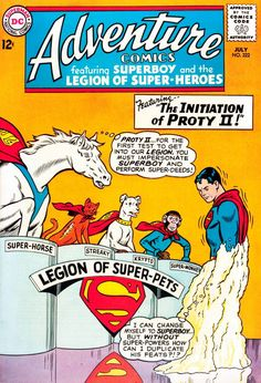 Legion of Super-Pets. Adventure Comics #322 (1964), cover by Curt Swan and George Klein