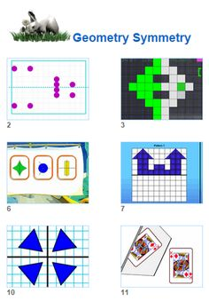 Math Geometry Symmetry activities for kids and their teachers from Johnnie's Math Page