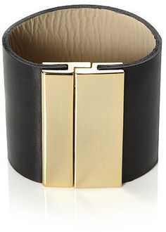 JEFFS - Plain Black Leather Cuff Nice and Pretty +dreadstop @DreadStop