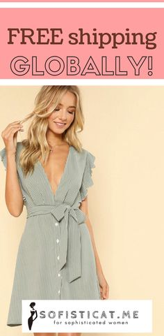 Enjoy free shipping globally! Available at www.sofisticat.me Chic Outfits, Wrap Dress, Free Shipping, Summer Dresses, Women, Fashion, Moda, Summer Sundresses, Fashion Styles