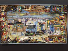 Found objects collage at the Rupert Art Museum in Stellenbosch South African Artists, Art Museum, Paper Art, Graphic Art, Street Art, Freedom, Objects, Horses, Sculpture