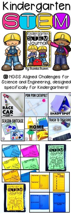 6 NGSS Aligned STEM Challenges designed specifically for Kinders! Covers science, engineering, and math standards for Kindergarten