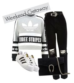 Lazy days by cas10140 on Polyvore featuring adidas Originals, River Island and Gucci