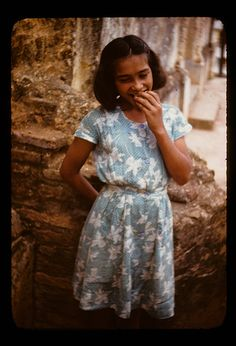 girl in puerto rico, 1950s
