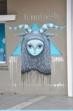 via The Box Gallery fb page Ser x Simoni @ Thessaloniki,Greece. Thessaloniki, Fb Page, Guerrilla, Street Art Graffiti, Greece, Artsy, Gallery, Fictional Characters, Travel