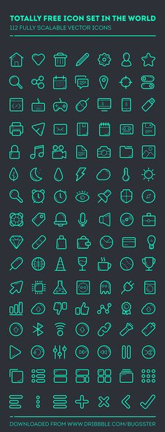 112 Outline PSD Icons Download: http://graphicsbay.com/item/112-outline-psd-icons/341